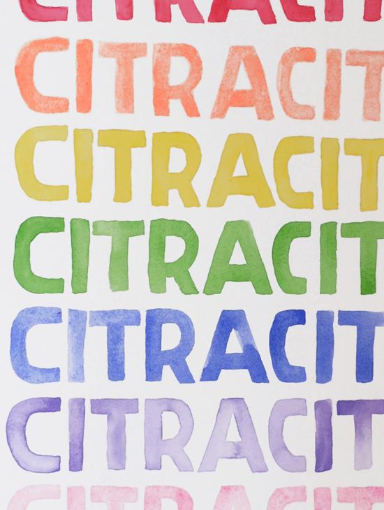 Étude pour une affiche publicitaire Citracit